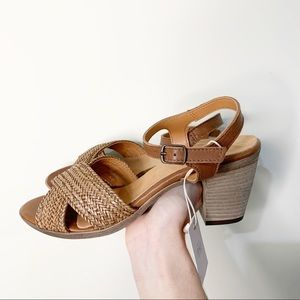Mariella Italy Woven Leather Strappy Heel Sandals